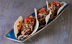 Tacos de carrillera de ternera